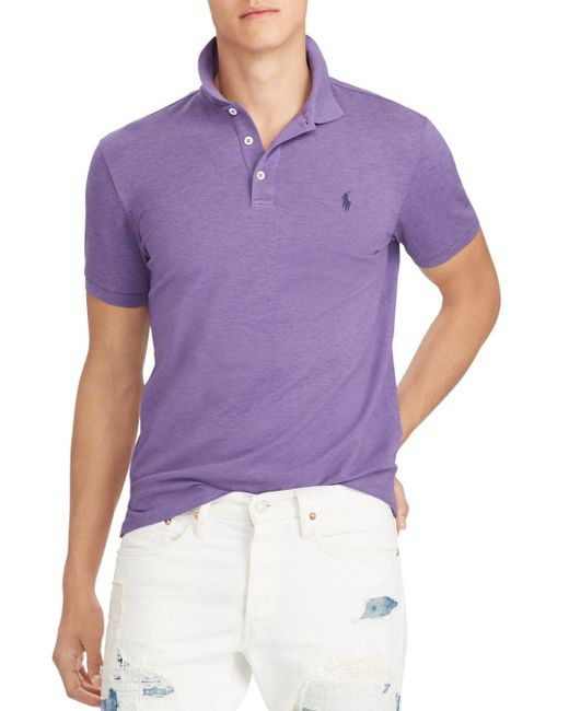 Polo Ralph Lauren - Purple Polo Stretch Mesh Classic Fit Polo Shirt for Men - Lyst