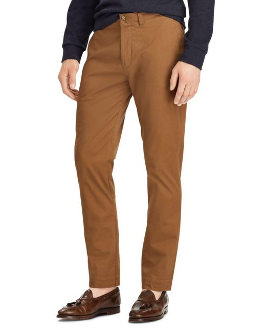 Polo Ralph Lauren - Brown Polo Stretch Classic Fit Chino Pants for Men - Lyst