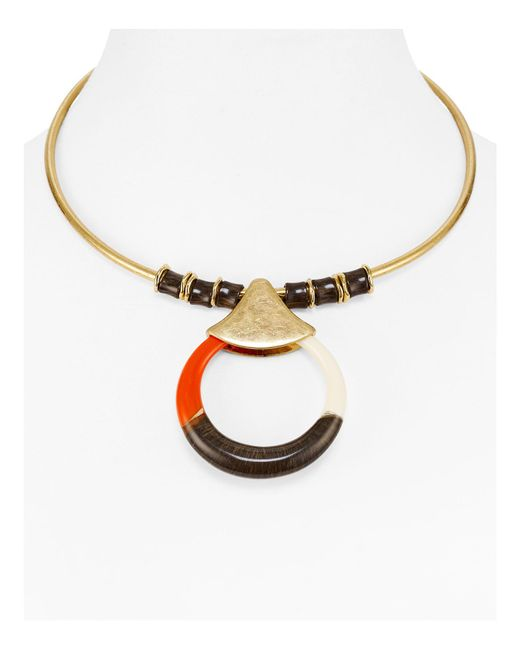 Robert Lee Morris | Metallic Crescent Collar Necklace | Lyst