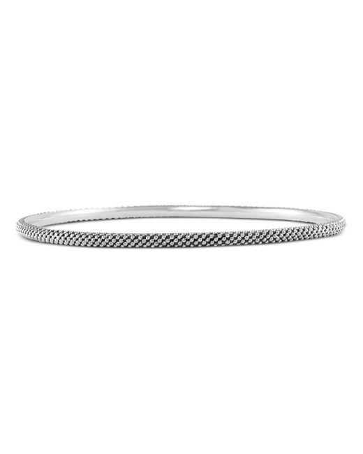 Lagos - Metallic Sterling Silver Signature Caviar Bangle Bracelet - Lyst