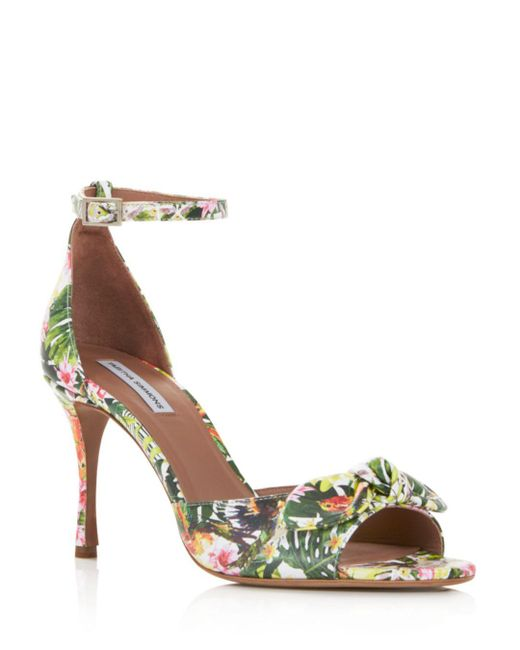 Tabitha Simmons - Multicolor Women's Mimmi Floral Print Leather High-heel Sandals - Lyst