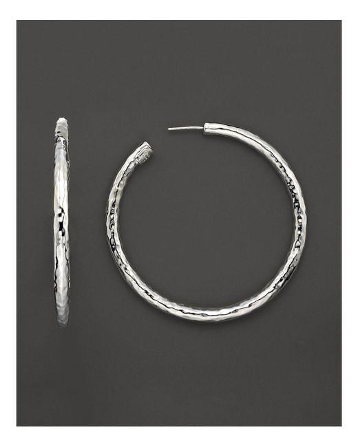 "Ippolita   Metallic ""glamazon"" Hoop Earrings   Lyst"