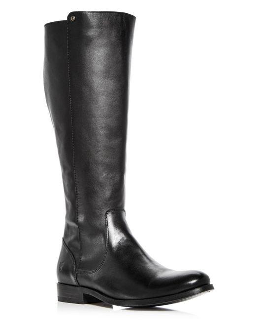 Frye - Black Women's Melissa Stud Leather Tall Boots - Lyst