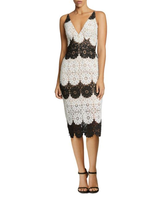 Dress the Population - Black Vera Lace Dress - Lyst
