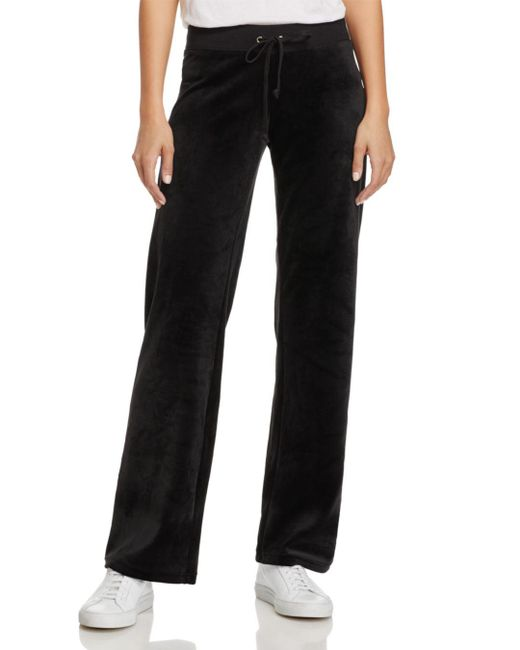 Juicy Couture - Black Mar Vista Luxe Velour Flared Pants - Lyst