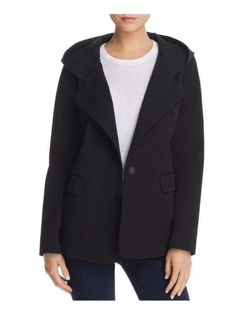 Donna Karan - Black Hooded Jacket - Lyst