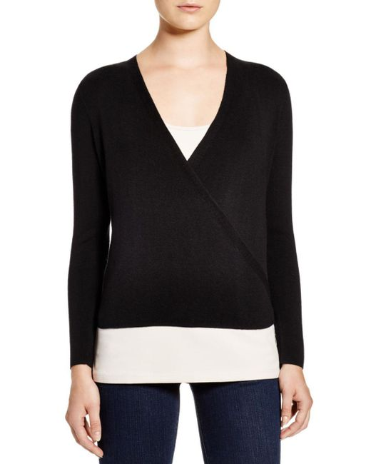 NIC+ZOE - Black Nic+zoe Four-way Cardigan - Lyst