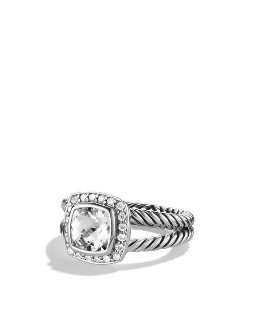 David Yurman | Petite Albion Ring With White Topaz & Diamonds | Lyst