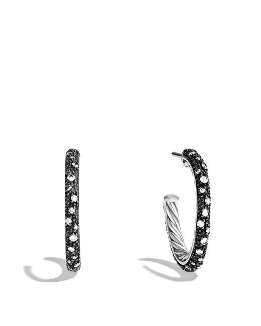 David Yurman | Metallic Midnight Mélange Small Hoop Earrings With Diamonds | Lyst