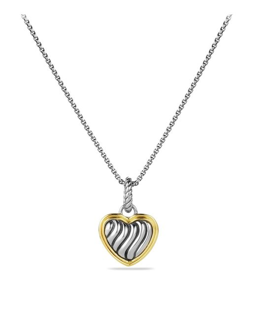 David Yurman | Metallic Cable Collectibles Heart Charm With Gold | Lyst