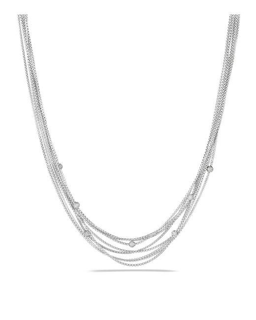 David Yurman | Metallic Eight-row Chain Necklace With Diamonds | Lyst