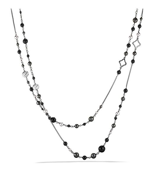 David Yurman | Metallic Dy Elements Chain Necklace With Black Onyx & Hematine | Lyst