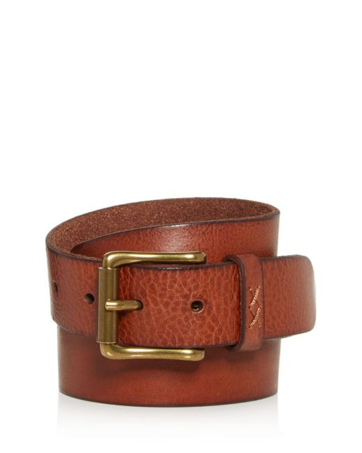 Frye - Brown Sam Leather Belt for Men - Lyst
