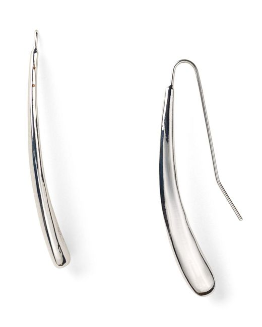 Robert Lee Morris | Metallic Silver Tear Drop Pull Through Earrings | Lyst