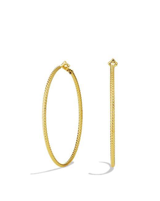 David Yurman | Yellow Cable Classics Hoop Earrings In Gold | Lyst