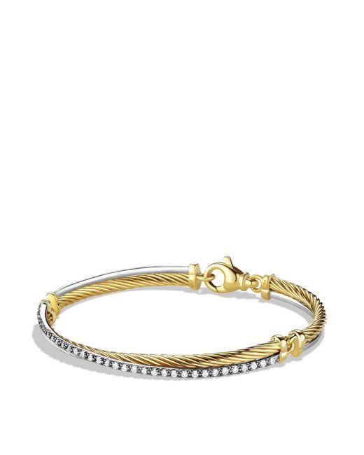 David Yurman | Yellow Crossover Bracelet With Gold And Diamonds | Lyst