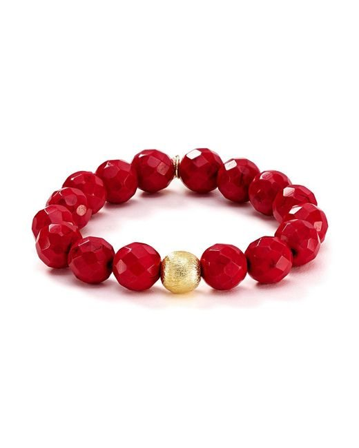 Bourbon and Boweties | Red Stretch Bracelet | Lyst