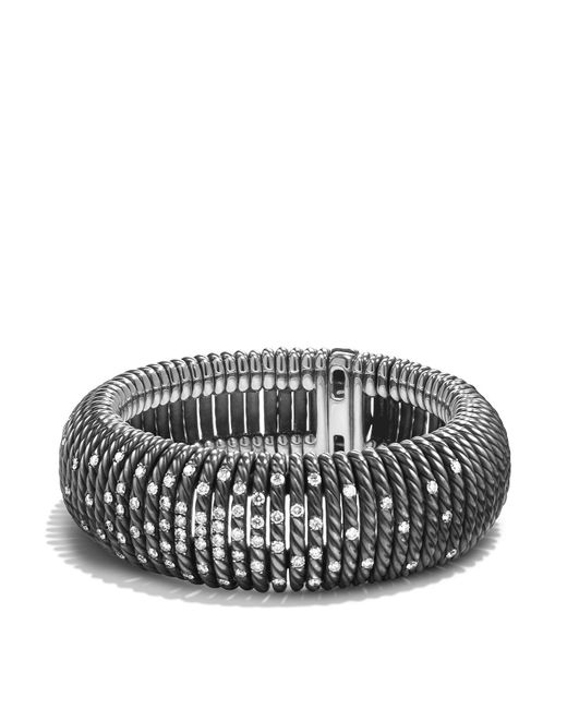 David Yurman   Metallic Tempo Bracelet With Diamonds   Lyst
