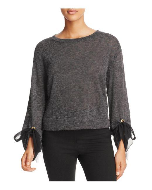 Ella Moss | Gray Nicolette Tie-cuff Sweater | Lyst