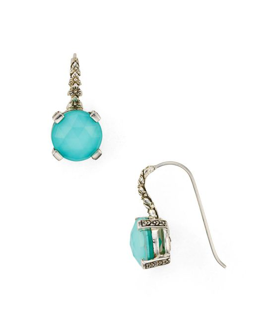 Stephen Dweck | Multicolor Circle Stone Drop Earrings | Lyst