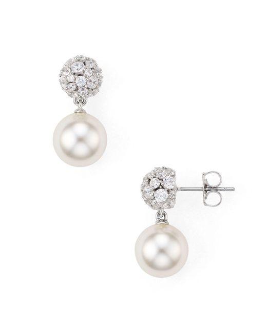Nadri | Metallic Mare Dangling Ball Earrings | Lyst