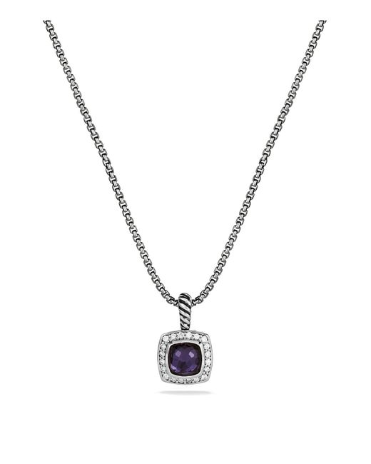 David Yurman | Petite Albion Pendant With Black Orchid & Diamonds On Chain | Lyst