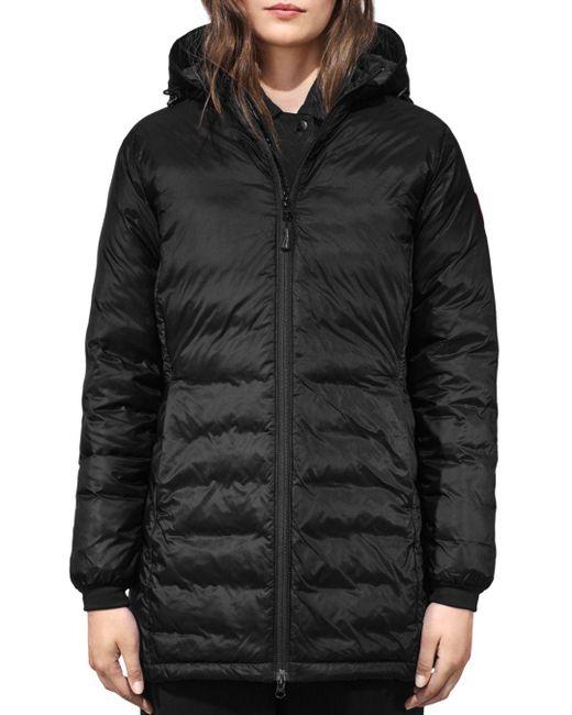Canada Goose - Black Camp Hoody Coat - Lyst