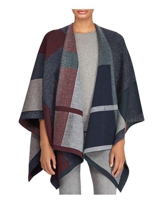 Ralph Lauren | Multicolor Lauren Plaid Jacquard Knit Ruana | Lyst