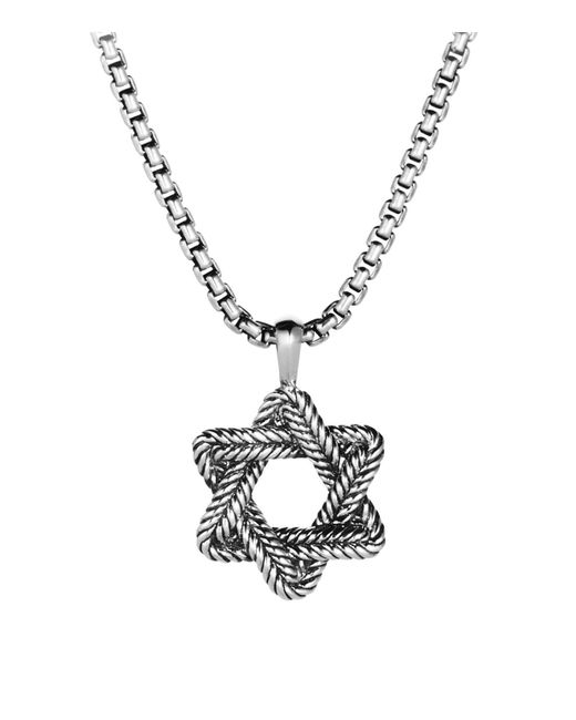 "David Yurman | Metallic Chevron Star Of David On Chain, 22"" for Men 