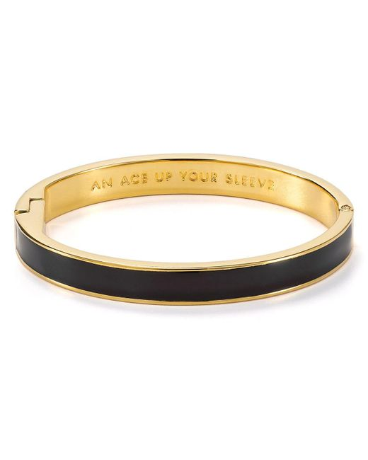 kate spade new york | Black Ace Up Your Sleeve Idiom Bangle | Lyst