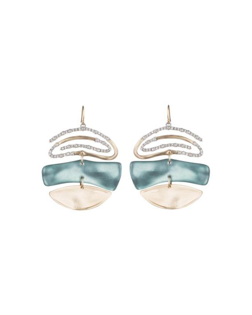 Alexis Bittar - Blue Pavé Spiral Drop Earrings - Lyst