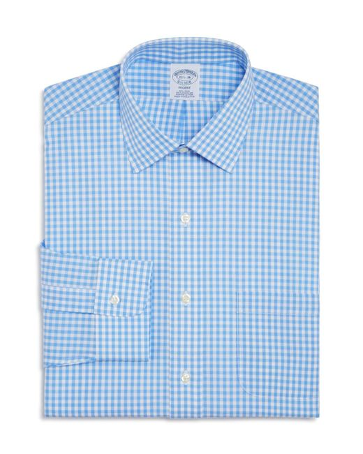 Brooks Brothers | Blue Gingham Check Regular Fit Dress Shirt for Men | Lyst