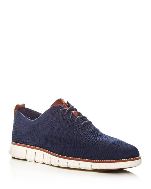 Cole Haan - Blue Men's Zerogrand Wingtip Oxford With Stitchlite for Men - Lyst