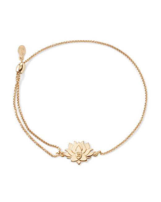 ALEX AND ANI - Metallic Precious Metals Symbolic Lotus Peace Petals Pull Chain Bracelet - Lyst