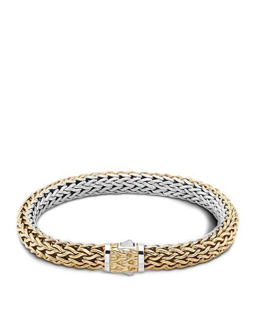 John Hardy | Metallic Classic Chain Gold And Silver Medium Reversible Bracelet | Lyst