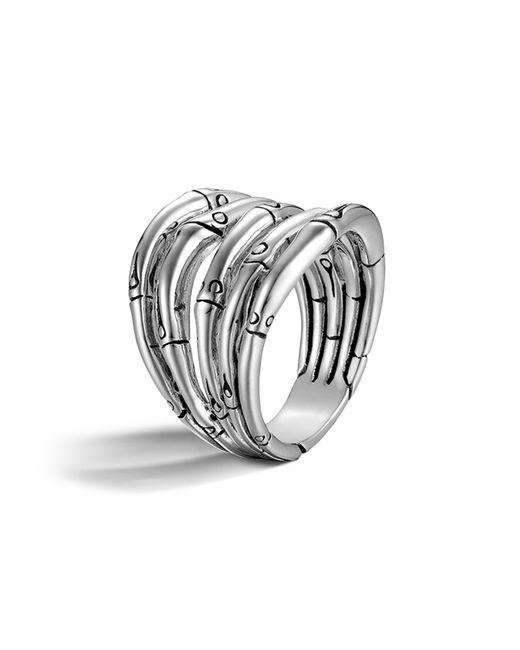 John Hardy   Metallic Bamboo Silver Wide Ring   Lyst