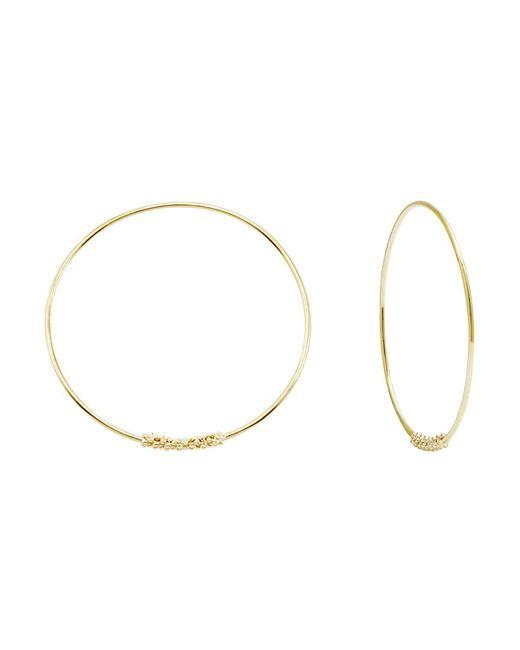 Lagos   Metallic 18K Gold Hoop Earrings   Lyst