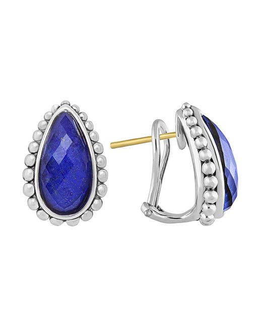 Lagos | Blue Lapis Doublet Half Hoop Earrings | Lyst
