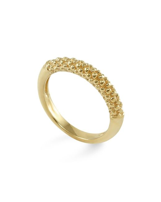 Lagos | Metallic 18k Gold Beaded Ring | Lyst