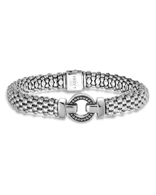 Lagos | Metallic Sterling Silver Beaded Bracelet | Lyst