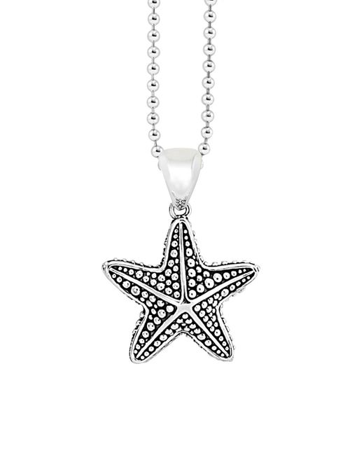 "Lagos | Metallic Starfish Pendant Necklace, 34"" | Lyst"
