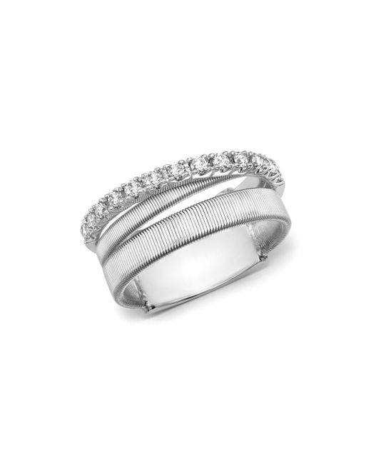 Marco Bicego - Metallic 18k White Gold Masai Triple Row Diamond Ring - Lyst