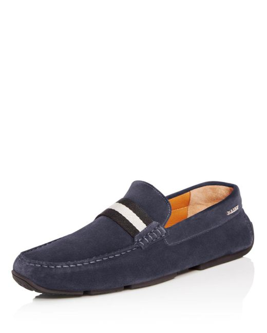 Bally - Blue Men's Pearce Suede Drivers for Men - Lyst