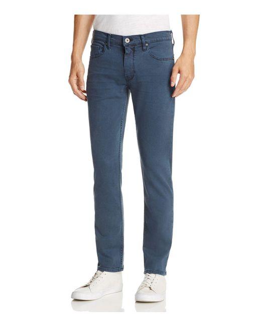 PAIGE | Blue Lennox Skinny Fit Jeans Overdye Denim In Vintage Almafi for Men | Lyst
