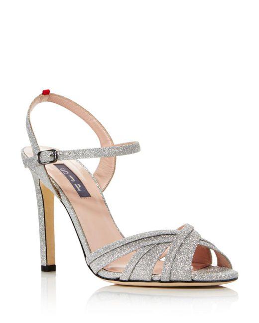 SJP by Sarah Jessica Parker - Metallic Women's Cadence Glitter High-heel Sandals - Lyst