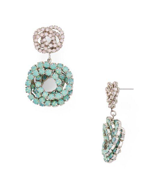 DANNIJO - Blue Chrysanthe Drop Earrings - Lyst