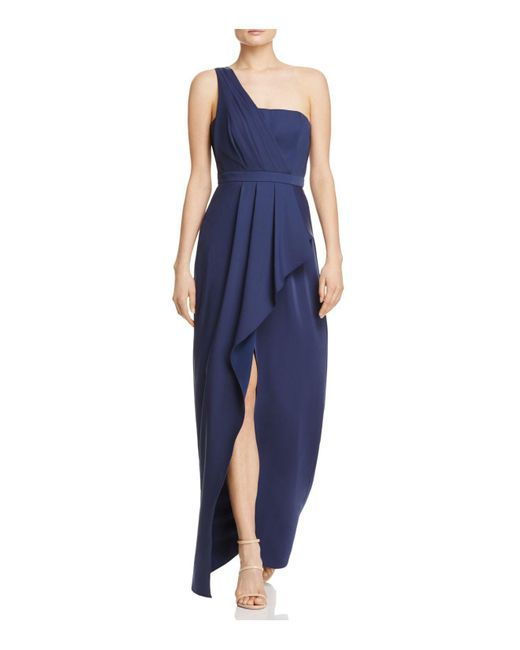 BCBGMAXAZRIA | Blue Kristine One-shoulder Gown | Lyst