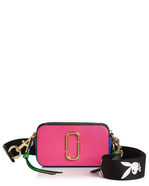 Marc Jacobs - Pink Snapshot Leather Camera Bag - Lyst