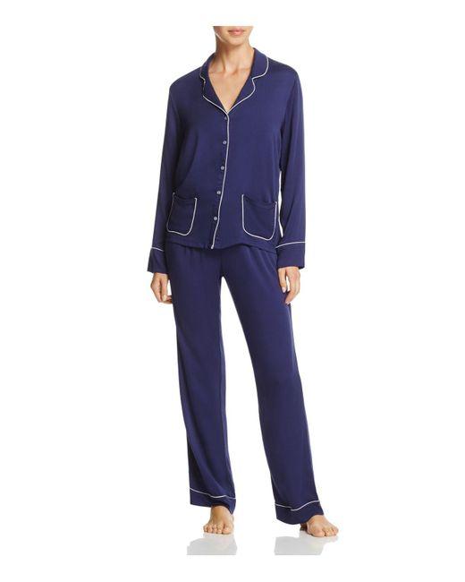 Splendid - Blue Intimates Piped Pajama Set - Lyst