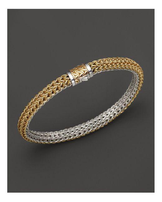 John Hardy   Metallic Classic Chain Gold & Silver Small Reversible Bracelet   Lyst